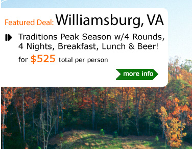 Traditions Peak Season w/4 Rounds, 4 Nights, Breakfast, Lunch & Beer!