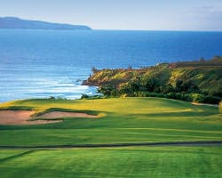 Maui-Golf outing-Kapalua - Plantation-Green Fee incl Cart Mid Morning 11 00am-12 50pm