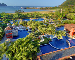 Costa Rica-Lodging travel-Los Suenos Marriott Ocean Golf Resort-Ocean Front View w Balcony