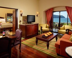 Costa Rica-Lodging travel-Los Suenos Marriott Ocean Golf Resort-Partial Ocean View w Balcony
